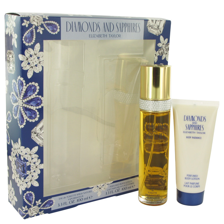 Diamonds & Saphires by Elizabeth Taylor Women's Gift Set -- 3.3 oz Eau De Toilette Spray + 3.3 oz Body Lotion