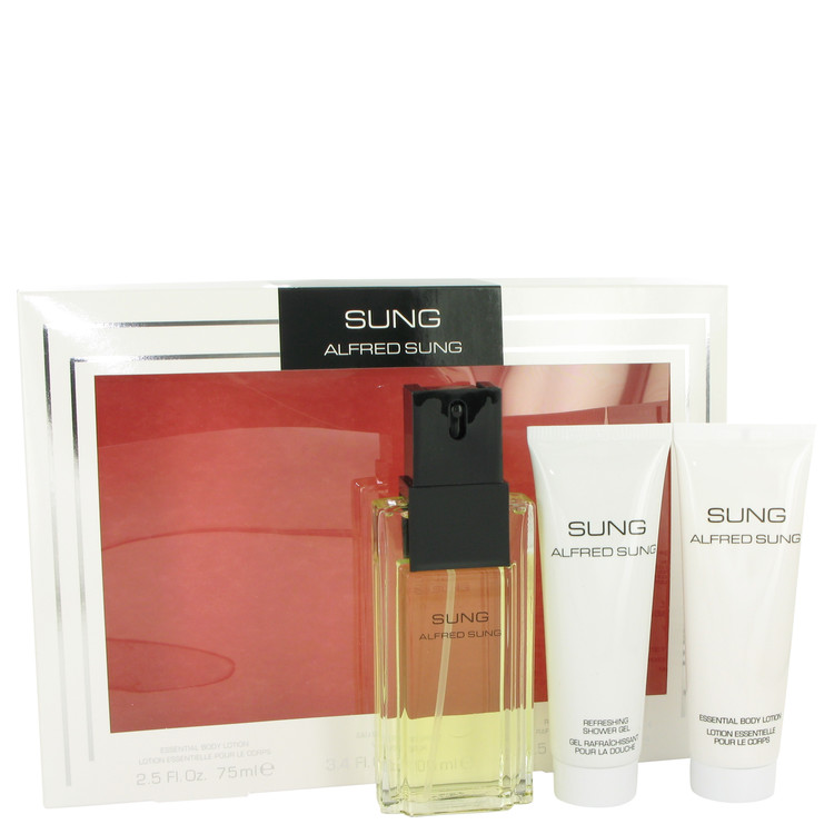 Alfred Sung by Alfred Sung Women's Gift Set -- 3.4 oz Eau De Toilette Spray + 2.5 oz Body Lotion + 2.5 oz Shower Gel
