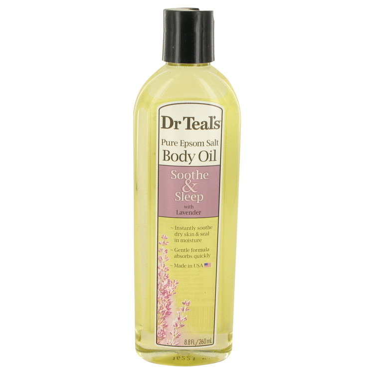 Dr Teal's Bath Oil Sooth & Sleep With Lavender by Dr Teal's Women's Pure Epsom Salt Body Oil Sooth & Sleep with Lavender 8.8 oz