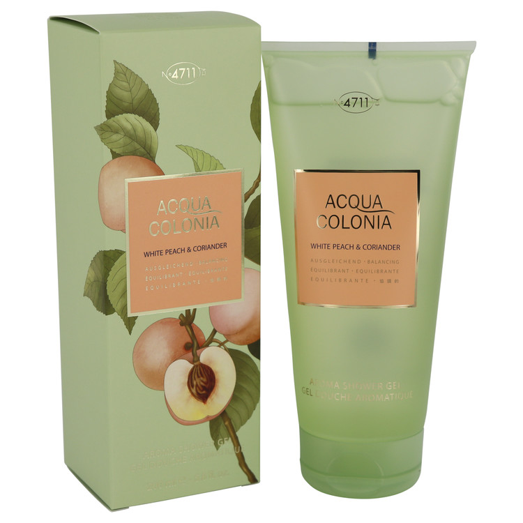 4711 Acqua Colonia White Peach & Coriander by 4711 Women's Shower Gel 6.8 oz
